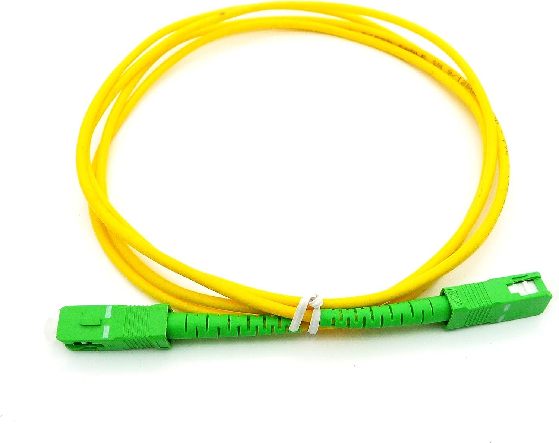 4M 9//125 Singlemode Duplex Fiber Jumper Zipcord Cable SC//APC LC//APC