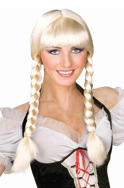 7ad45201dd4a Amazon.com  German Oktoberfest Bavarian Braided Inga Wig  Clothing