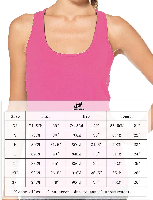 H HIAMIGOS Womens Racerback Tank Top Workout Tanks Sleeveless Shirts