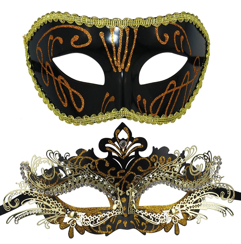 amazon com couple masquerade mask venetian halloween costume mask