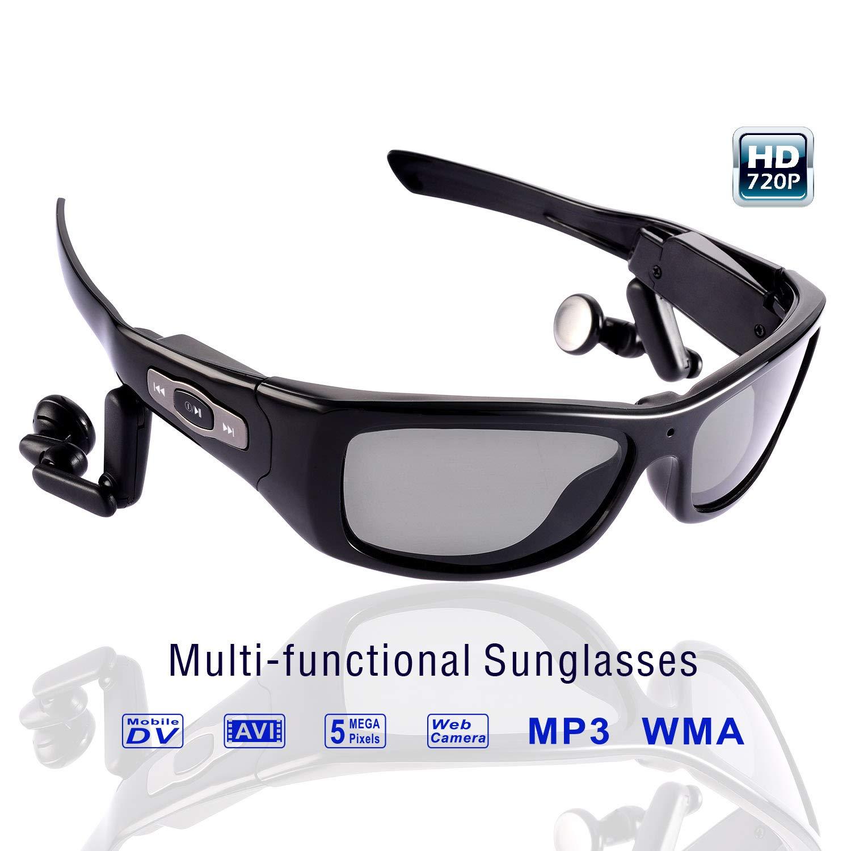 0db30efc7b47 6. digital camera sunglasses Review – Wearable Camera DVR Sunglasses HD  720P Video Recorder Glasses MP3 Sunglasses TR90 Glasses Frame with Polarized  UV400 ...
