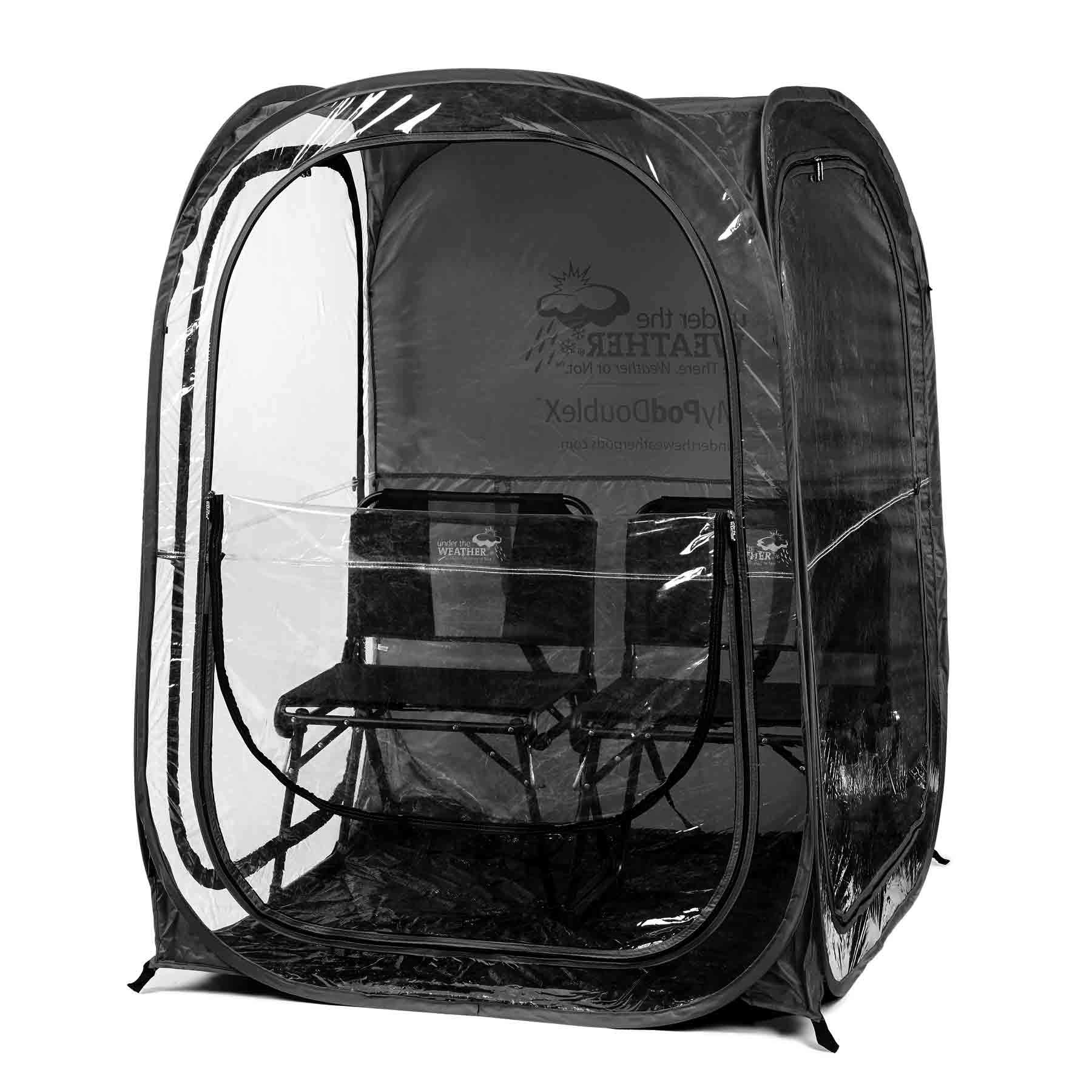 Under the Weather Black MyPodDoubleX 2 Person Pop-up Weather Pod. The Original, Patented WeatherPod by Under the Weather