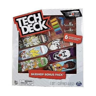 Tech-Deck Sk8shop Bonus Pack 6 Pack 96mm Fingerboards (Finesse): Toys & Games