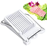 Luncheon meat slicer Egg Slicer Soft Food Slicer Cheese Slicer Boiled Fruit Slicer Sushi Cutter Canned Meat Slicer with 10 Cutting Wire in Stainless Steel (Luncheon meat slicer)