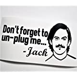Amazon Price History for:Jack Pearson Don't Forget To Unplug Me Black Vinyl Decal Instant Pot Crock Pot