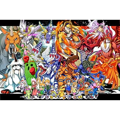 Jigsaw Puzzle Adult /Children's Gift - Cartoon Anime Digimon Pattern/Educational Building Blocks Insert Toy, Cardboard Puzzle Fun Fact Poster - Brain Games DIY Collectible Plane Puzzle 300/500/1000/15: Toys & Games