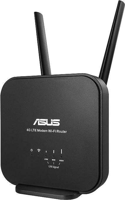 ASUS 4G-N12 B1 - Router WiFi 4G LTE N300 Alternativa a Fibra/ADSL (Antenas externas Removibles, Compatible con Todos los operadores, Red de Invitados)