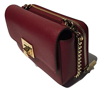 MICHAEL Michael Kors Tina Clutch Crossbody with Detachable Wallet (Cherry)