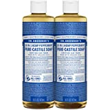 Dr. Bronner's - Pure-Castile Liquid Soap (Peppermint, 16 ounce) - Made with Organic Oils, 18-in-1 Uses: Face, Body, Hair, Lau