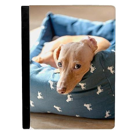 Marrón Color de perro salchicha ponedoras en cachorro cama Apple iPad Pro 9.7 Inch Funda de