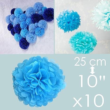 Addobbi Matrimonio Azzurro : Kmall azzurro pompon carta velina festone cm decorazioni