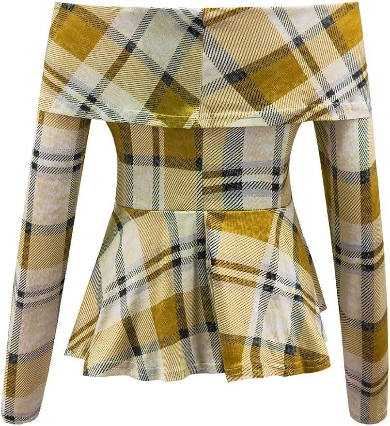 Darringls_camisetas para Mujer, Camisas Rayas Mujer del Hombro ...