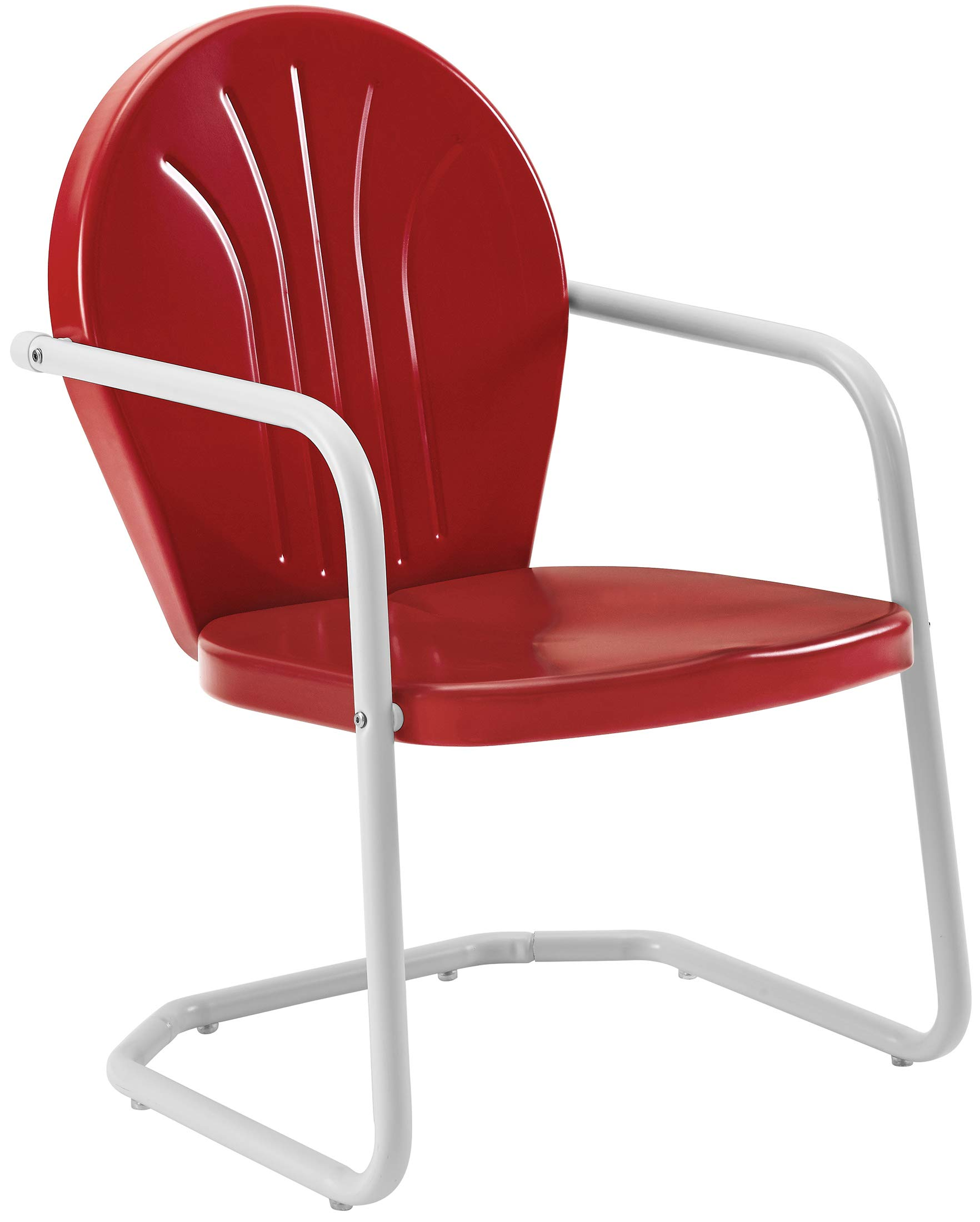 Crosley Furniture Griffith Metal Outdoor Chair - Red by Crosley Furniture