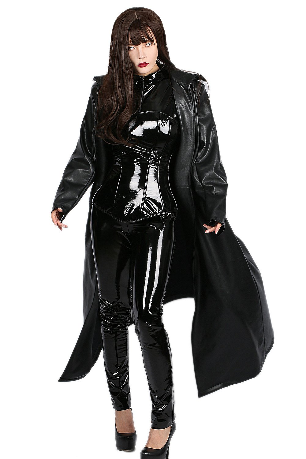 Selene Cosplay Costume Trench Coat with Catsuit Outfit Suit for Halloween L