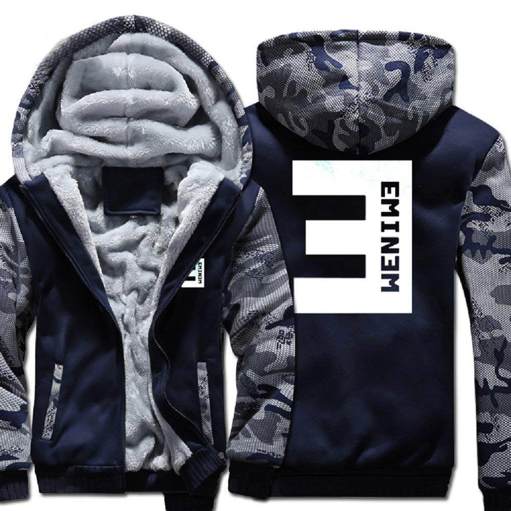 Xcostume Eminem Hoodie Hip-hop Musician Coat Thicken Casual Dress for Warm Winter