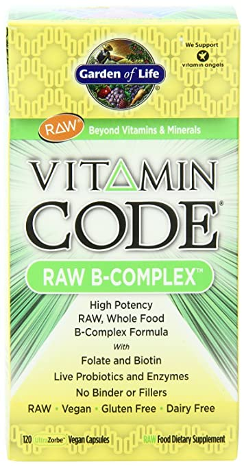 Amazon.com: Garden of Life Vitamin Code Raw B Complex 120 Capsules ...