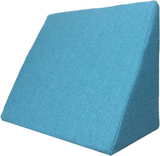 Altura: 30 cm Color Blanco sala o el sof/á // Almohada para leer o ver televisi/ón Medidas: 60 x 50 cm Almohada en forma de cu/ña Soporte para la espalda en la cama