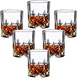 Double Old Fashioned Glasses Set of 6 - Lead-free Crystal Whiskey Glasses, Scotch Glasses Liquor Bourbon Tumblers for Scotch Whisky Drinking - 7oz Glasses, Ultra-Clarity Glass Drinkware
