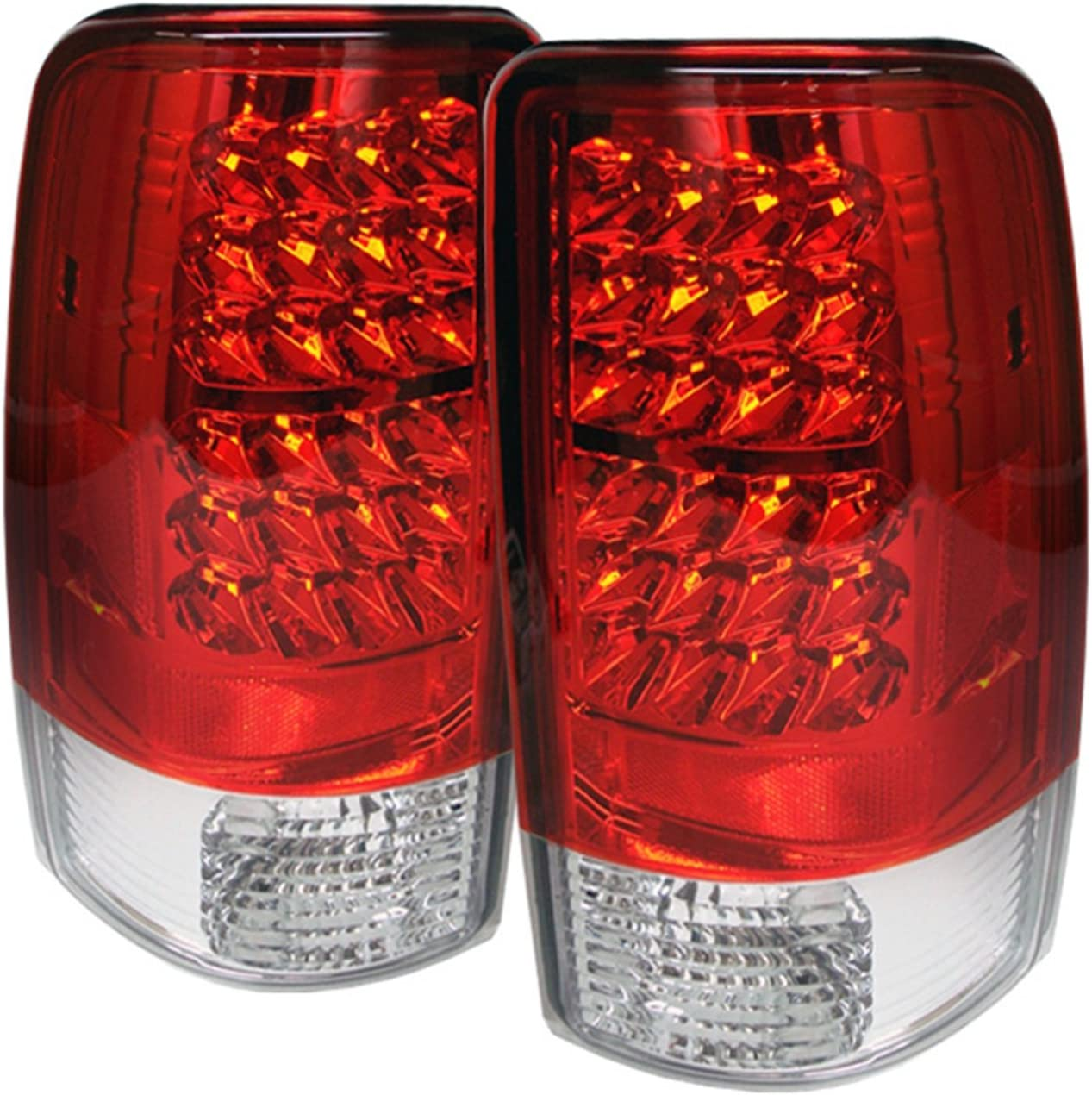 Spyder Auto ALT-YD-CD00-LED-C Chevy Suburban//Tahoe 1500//2500//GMC Yukon//Yukon XL//GMC Yukon Denali//Denali XL Chrome LED Tail Light