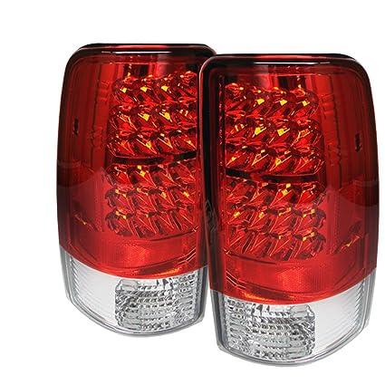 amazon com: spyder auto alt-yd-cd00-led-rc chevy suburban/tahoe 1500/2500/ gmc yukon/yukon xl/gmc yukon denali/denali xl red clear led tail light:  automotive