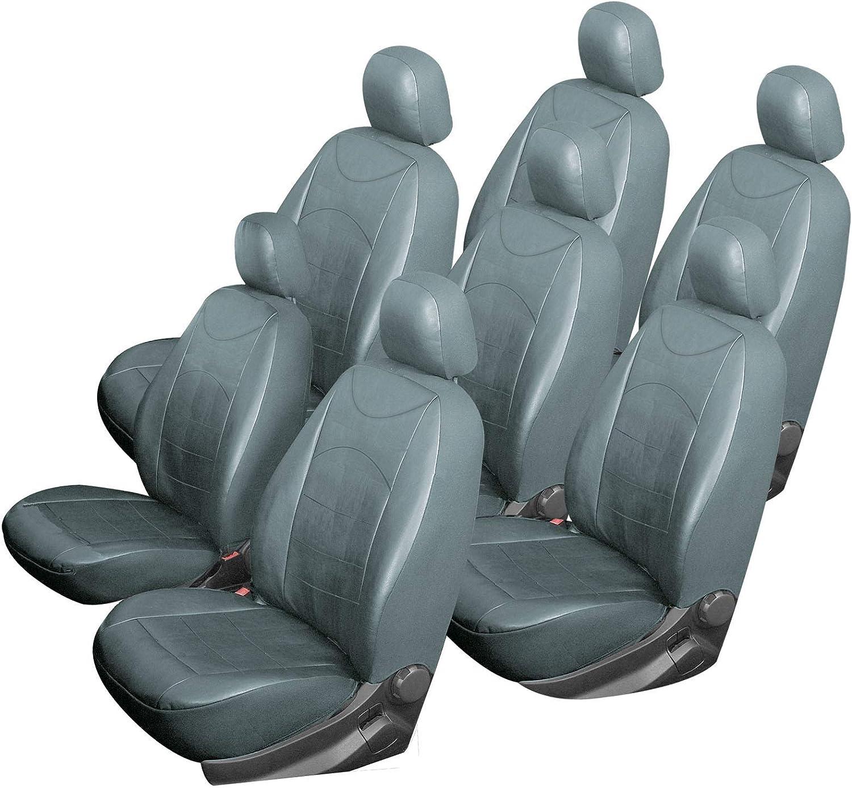 Esituro Scsc0004 7 7er Einzelsitzbezug Universal Sitzbezüge Für Auto Schonbezug Schoner Aus Kunstleder Grau Auto