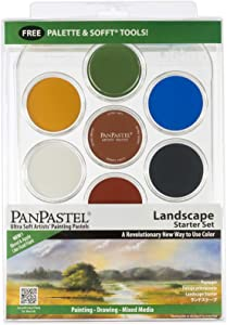 PanPastel 30072 Ultra Soft Artist Pastel 7 Color Lanscape Starter Kit w/Sofft Tools & Palette Tray