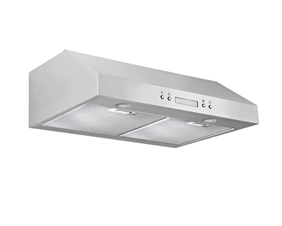 Incroyable Ancona UCP430 Under Cabinet Range Hood, 30 Inch, Stainless Steel