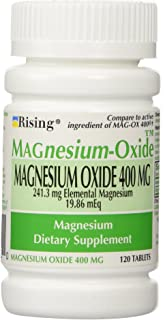 MAGnesium Oxide 400 mg Dietary Supplement Tablets - 120 Tablets by Mag-Ox 400,