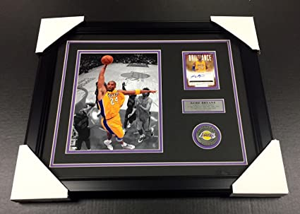 70a45a2fa0b1 KOBE BRYANT LOS ANGELES LAKERS SIGNED Autographed Card 8x10 PHOTO ...