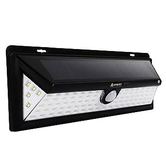 90LEDs 1000 Lúmenes Focos Solares con Sensor de Movimiento, Impermeable, Gran Ángulo 120°