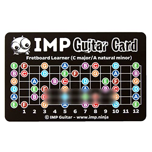 IMP Guitar Card - Learn Chords In All Keys & Fretboard Notes - Music Practice Tool