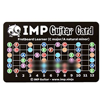 IMP Guitar Card - Learn Chords In All Keys & Fretboard Notes - Music ...