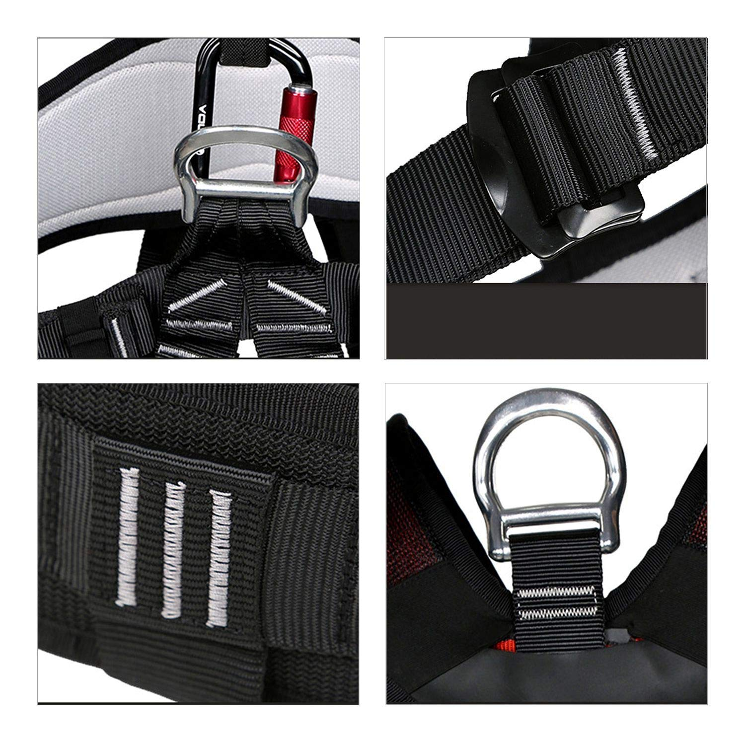 Nrpfell Outdoor Climbing Rock Rappelling Mountaineering Accessories Body Wearing Seat Belt Sitting Waist Bust Protection by Nrpfell (Image #5)