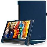 FINTIE Lenovo Yoga Tab 3 Plus/Yoga Tab 3 PRO 10.1 Custodia - Premium Folio Case Protettiva in Pelle PU per Lenovo Yoga Tab 3 Plus 10 / Yoga Tab 3 PRO 10.1 Pollici Tablet, Blu Scuro