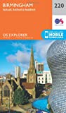 Ordnance Survey Explorer 220 Birmingham, Walsall, Solihull & Redditch Map With Digital Version