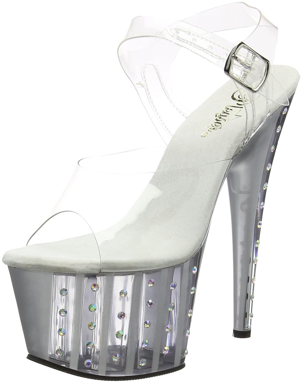 Clr slv matte Pleaser Women's Adore-708vlrs Sandal