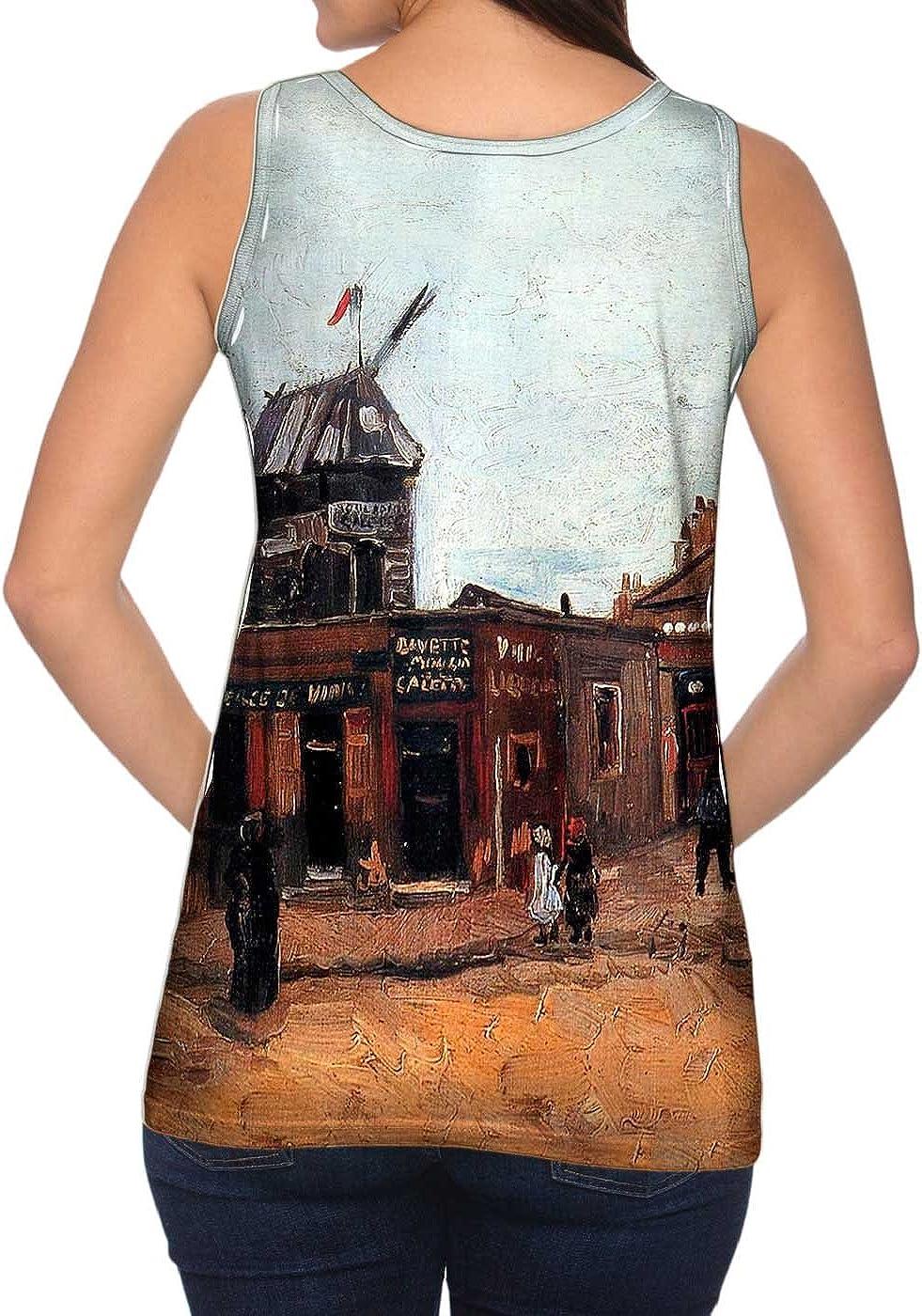 Womens Tank Top Van Gogh -Tshirt Yizzam Moulin de Galette 1886