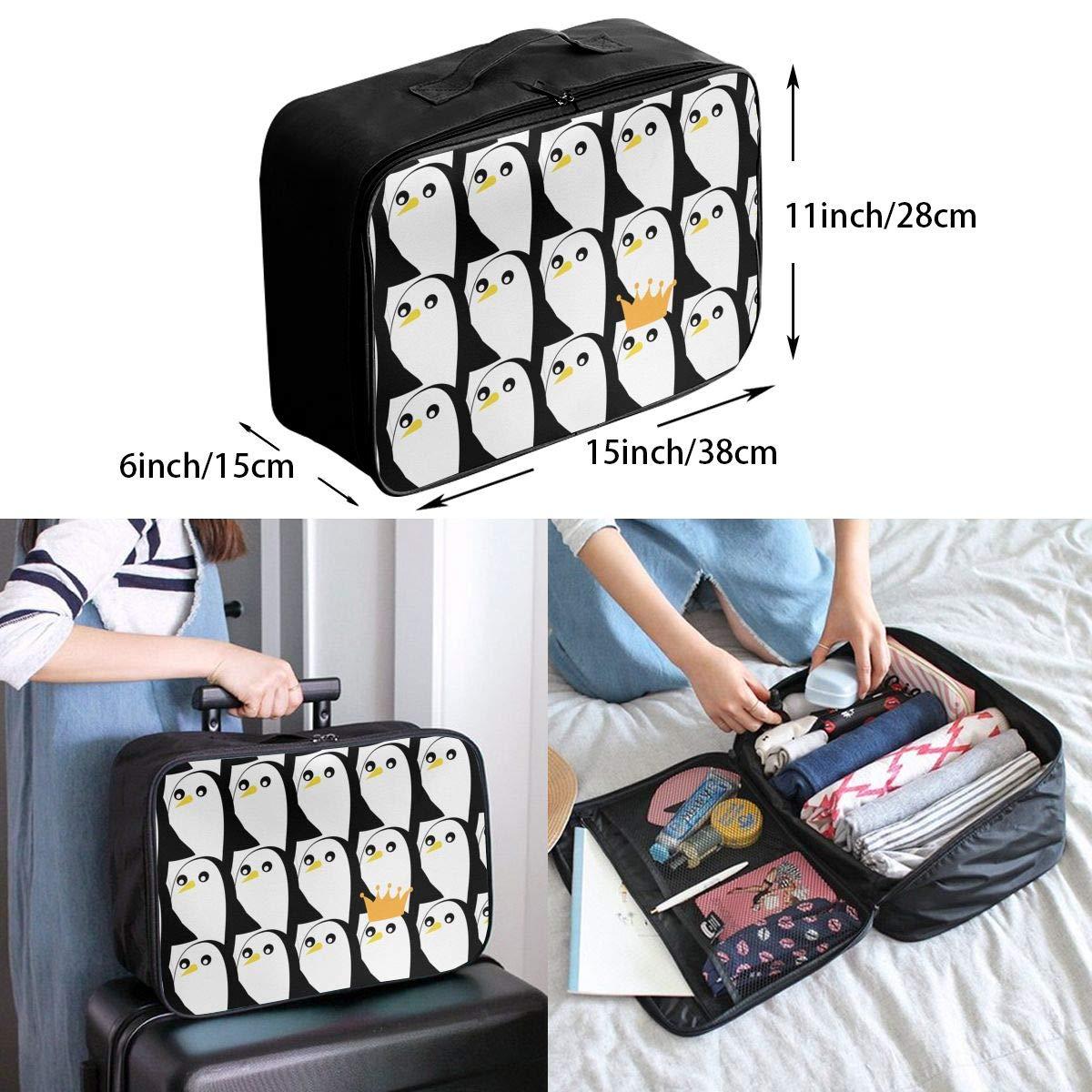 Travel Bag Cute Penguin Waterproof Large Capacity Portable Luggage Bag
