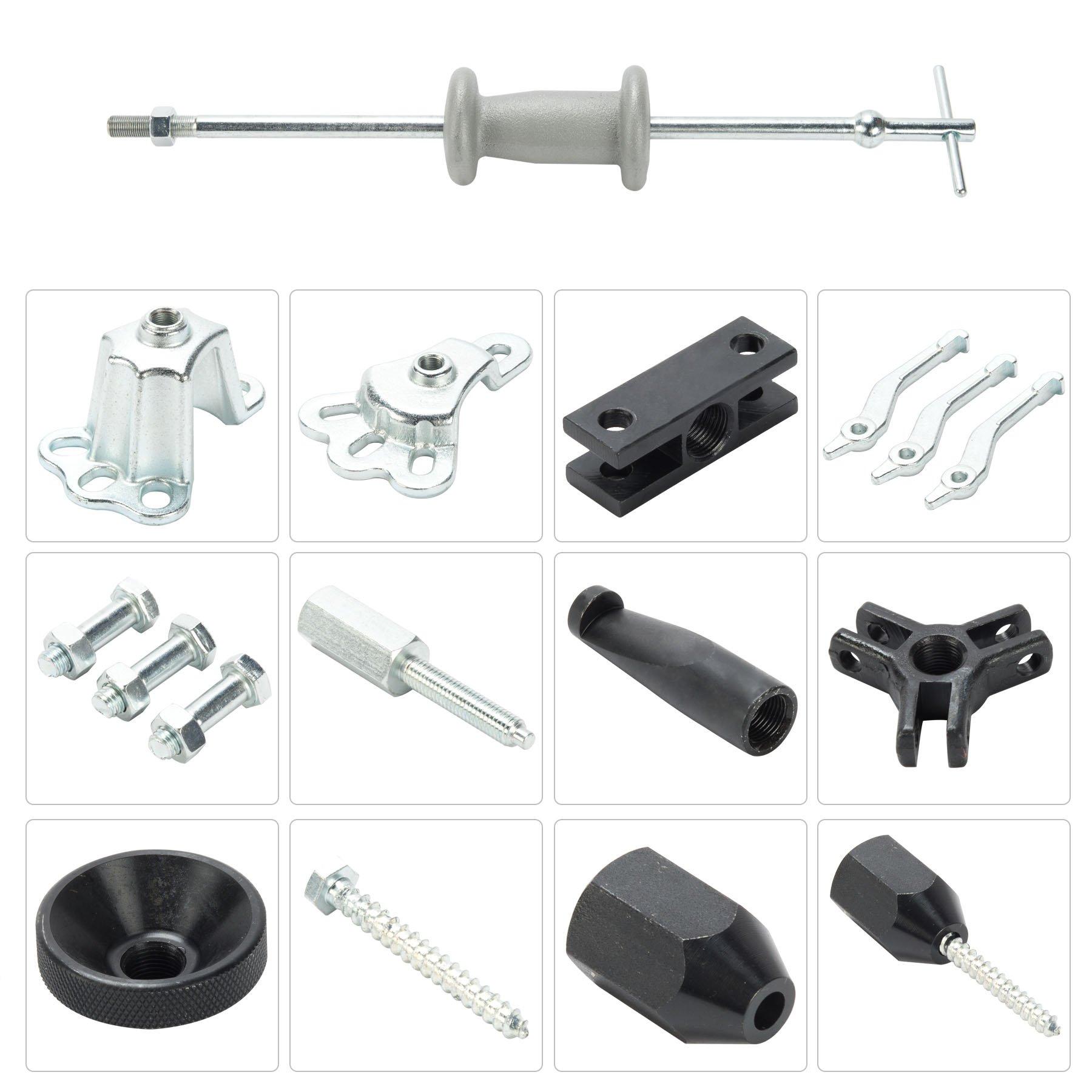 OrionMotorTech 9-Way Slide Hammer Puller Set, Front Wheel Hub Bearing Remover & Rear Wheel Axle Shaft Puller Tool Kit by OrionMotorTech (Image #6)