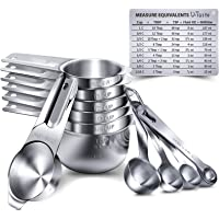Measuring Cups, U-Taste Measuring Cups and Spoons Set of 15 in 18/8 Stainless Steel : 7 Measuring Cups and 7 Measuring…