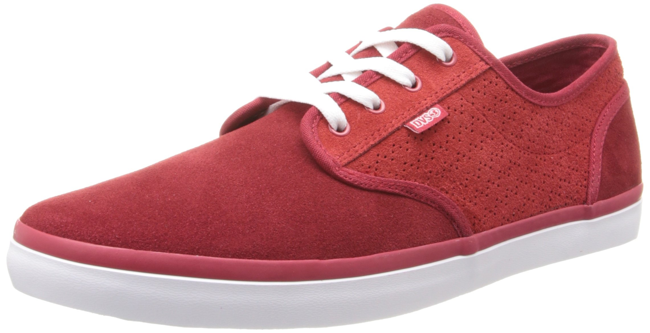 DVS Rico CT Skate Shoe,Red Suede,8 M US