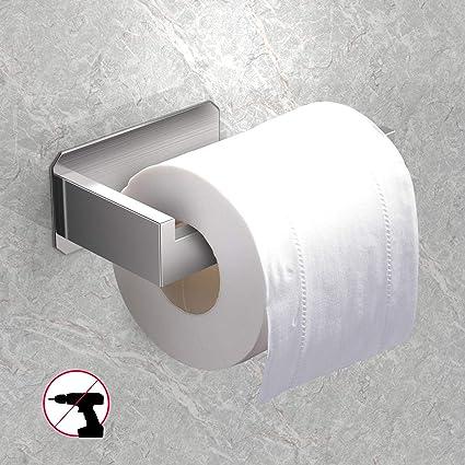 Gancio per rotolo di carta di aspirazione M /& W Porta rotolo di carta igienica a ventosa Accessori da bagno cromati Supporto per carta igienica senza perforazione
