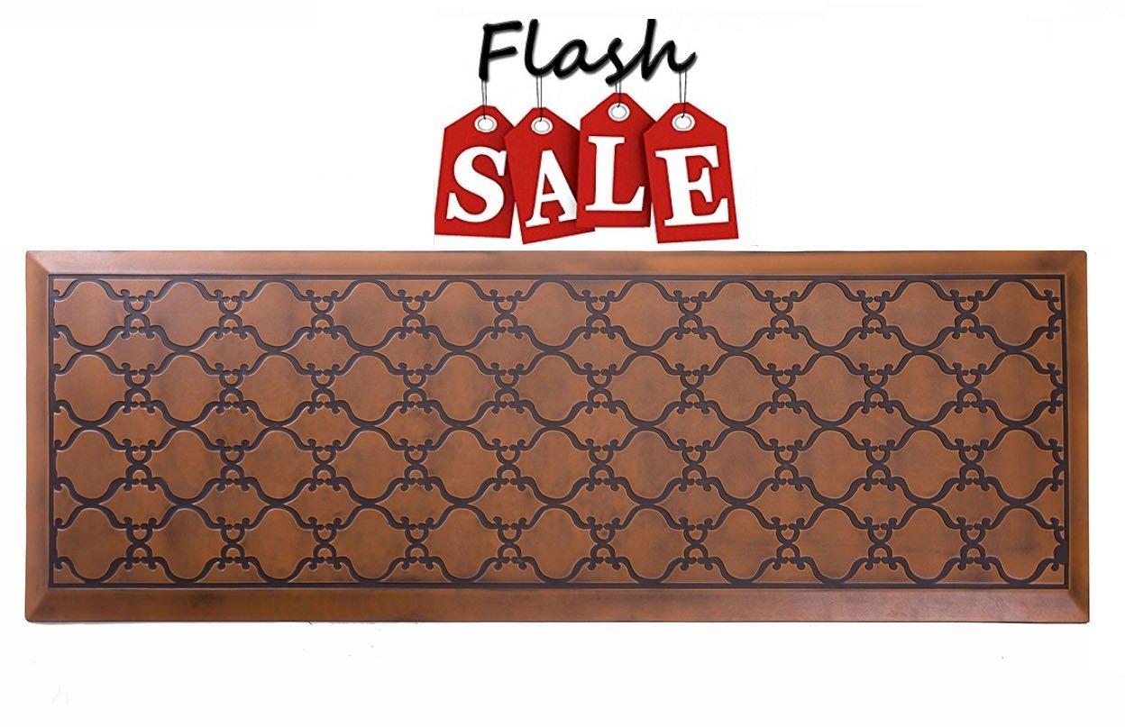 Licloud Anti-fatigue Mat Non-toxic Kitchen Floor Mat Comfort Mat Desk Mat (24x70x3/4-Inch, Antique Light)
