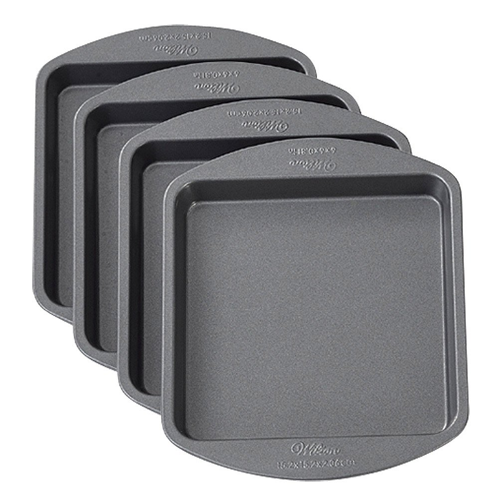 Wilton Easy Layers Square Pans 4 Pack - Bake Cakes With Mouse In Between