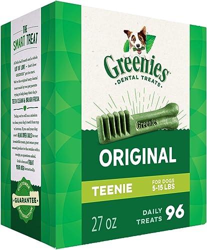 Greenies Original Teenie Natural Dental Dog Treats 5-15 lb. dogs