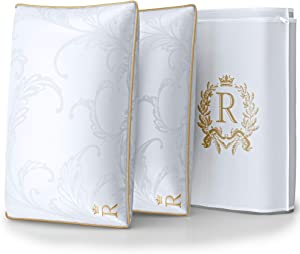 ROYAL THERAPY King-Size Professional Hotel Pillows (2-Pack) - A Set of Premium Plush Gel Microfiber Down Alternative Hypoallergenic Bed Pillows for Your Home Bedroom - Side, Stomach & Back Sleepers