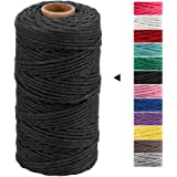 Macrame Cord 3mm x 328 Feet,Black Rope String,Cotton Cord Twine for Wall Hanging Plant Hangers Crafts Knitting…