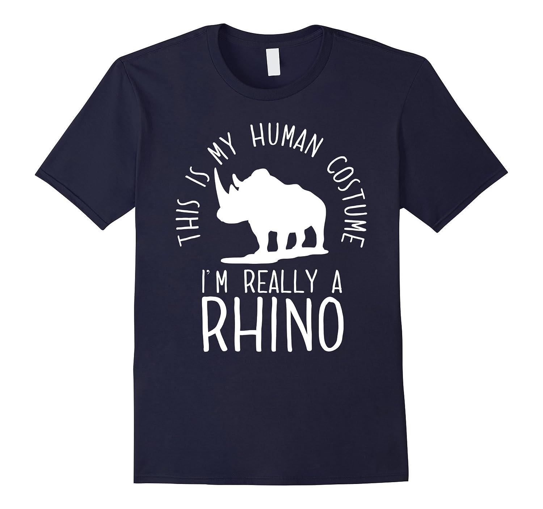 Funny Human Costume Rhino T-Shirt-T-Shirt