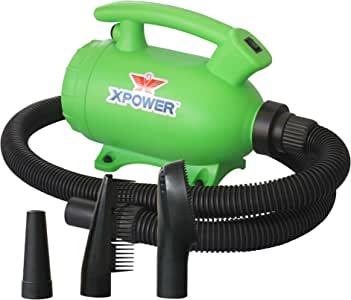 XPOWER B-55 - 2 HP Portable (Do it Yourself) Home Dog Force Dryer for Home Grooming, Backup Dryer, Travel Dryer – Green