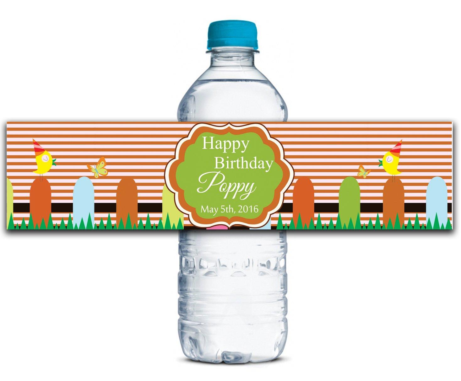 Kundenspezifische Geburtstags-Aufkleber Personalisierte Wasserflasche Etiketten Selbstklebende wasserdichte wasserdichte wasserdichte 8  x 2  Zoll - 50 Etiketten B01A0W4YDQ | Um Zuerst Unter ähnlichen Produkten Rang  03b42e